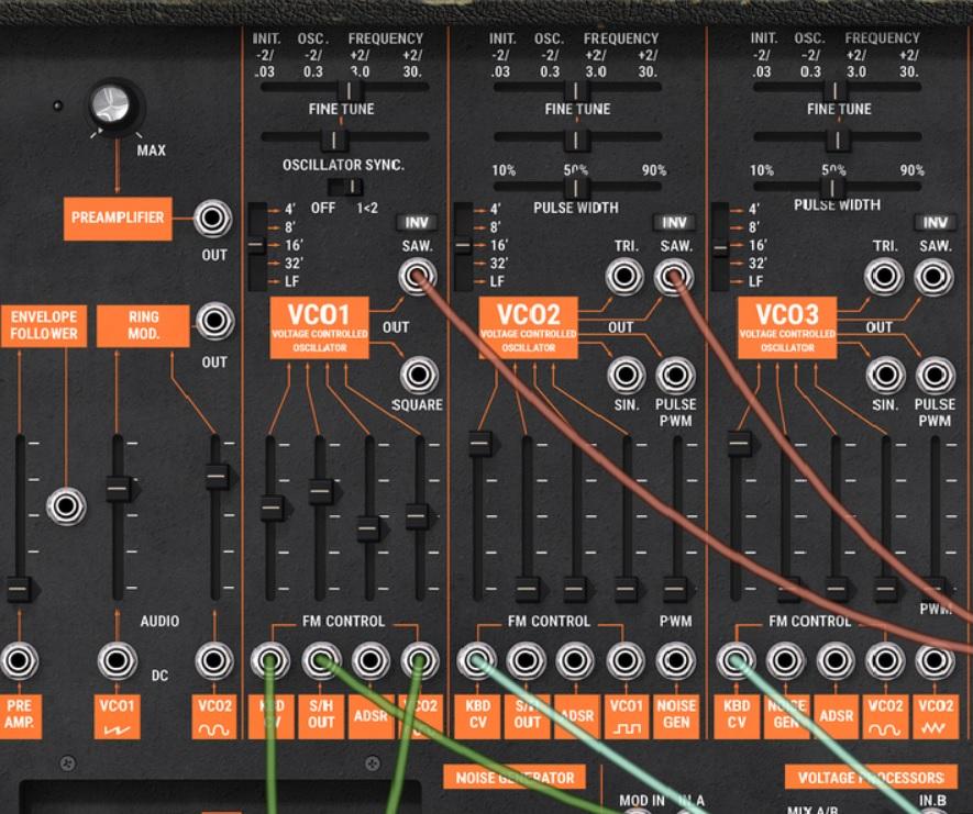 Arp 2600 synthétiseur section oscillateurs