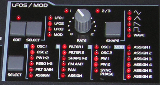 LFO (Low Frequency Oscillator) module