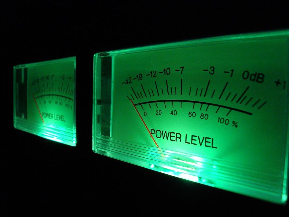 Vu-mètre pour la mesure des niveaux sonores