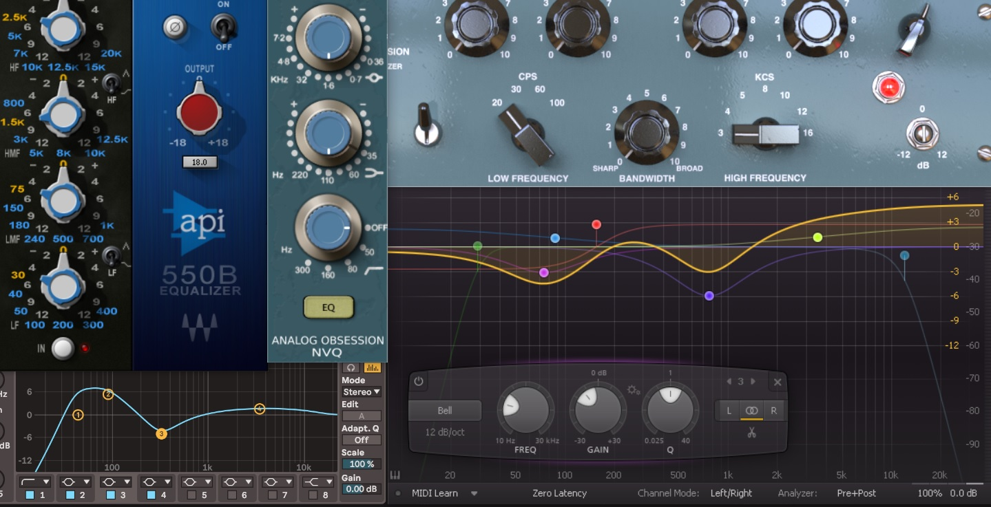 Différents types de plugins EQ